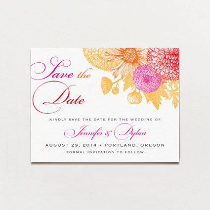 Summer Tones Save The Date Postcard