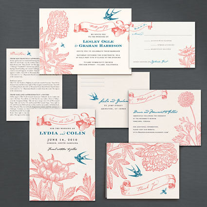 Swallow and Bee Place Card