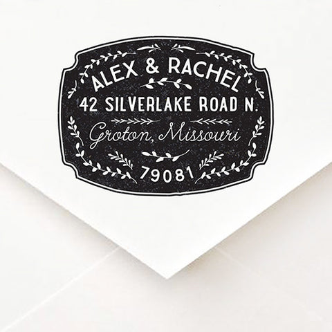 Topiary Badge Address Stamp - $55