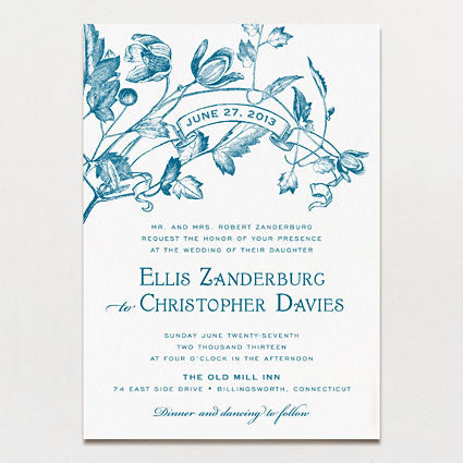 Twining Vines Wedding Invitation