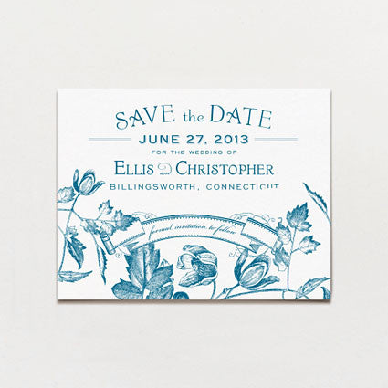 Twining Vines Save The Date Postcard