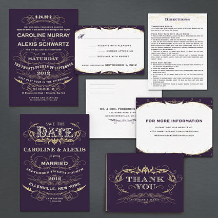 Vintage Glamour Save The Date