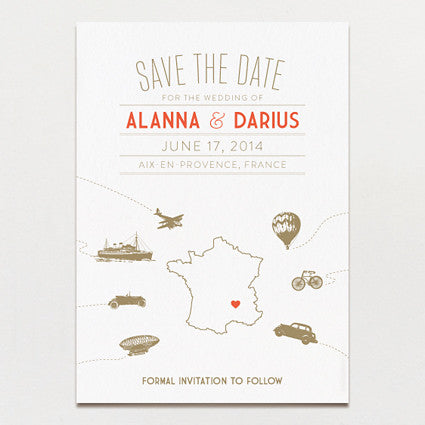 Vintage Destination Save The Date