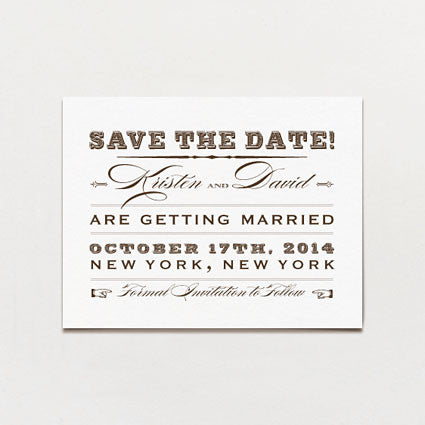 Western Cosmopolitan Save The Date Postcard