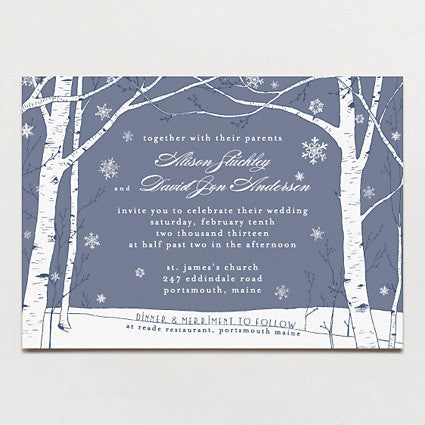 Winter Wonderland Wedding Invitation