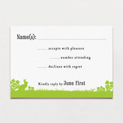 Woodland Love Response Card