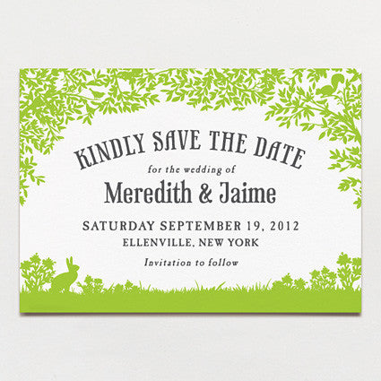 Woodland Love Save The Date