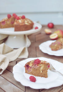 Raspberry-Apple cake
