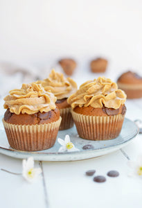 Peanut Butter Chocolate Chips Muffins With Peanut Butter Frosting