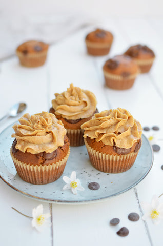 Peanut Butter Chocolate Chip Muffins With Peanut Butter Frosting