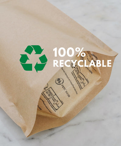 Flow Bake 100% recyclable pouches
