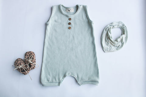 Rib Romper | Duck-egg
