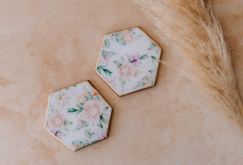 Florals | Wooden Coasters