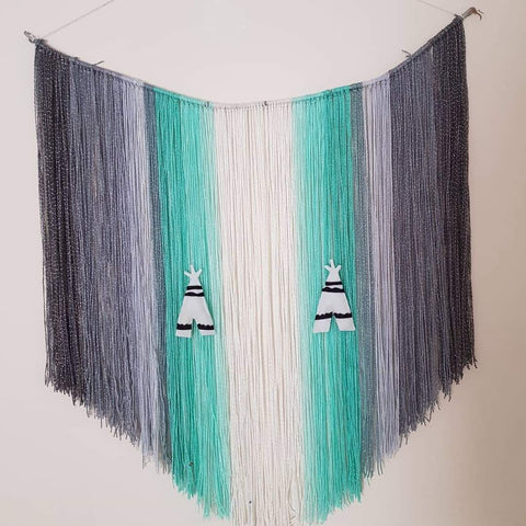Large Wall Hanging | Mint & Grey