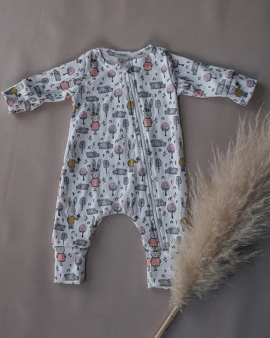 Mrs. Rabbit Zip Onesie