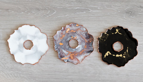 Geode Resin Coasters | Marbled Set