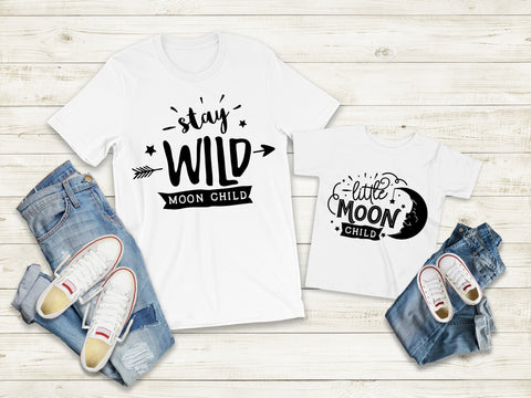 Matching Tee's | Stay Wild Moon Child