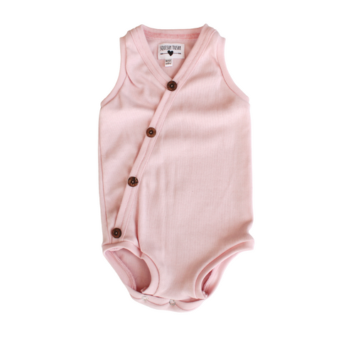 Cross-Buttoned Rib Vest | Candyfloss