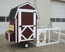 Load image into Gallery viewer, Gambrel Barn Chicken Coop with Wheels