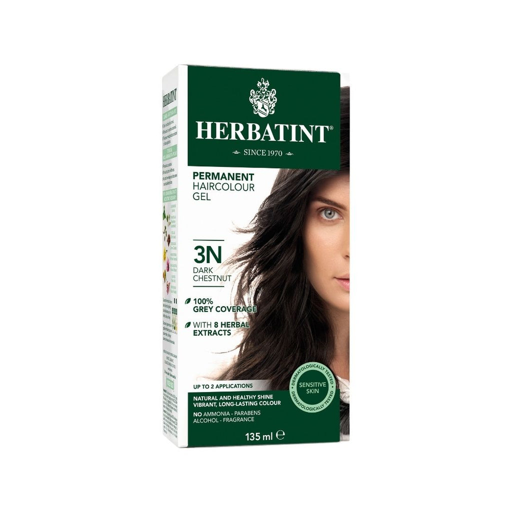 "Herbatint™ ""N"" Series Natural Herb Based Hair Colour 3N Dark Chestnut"