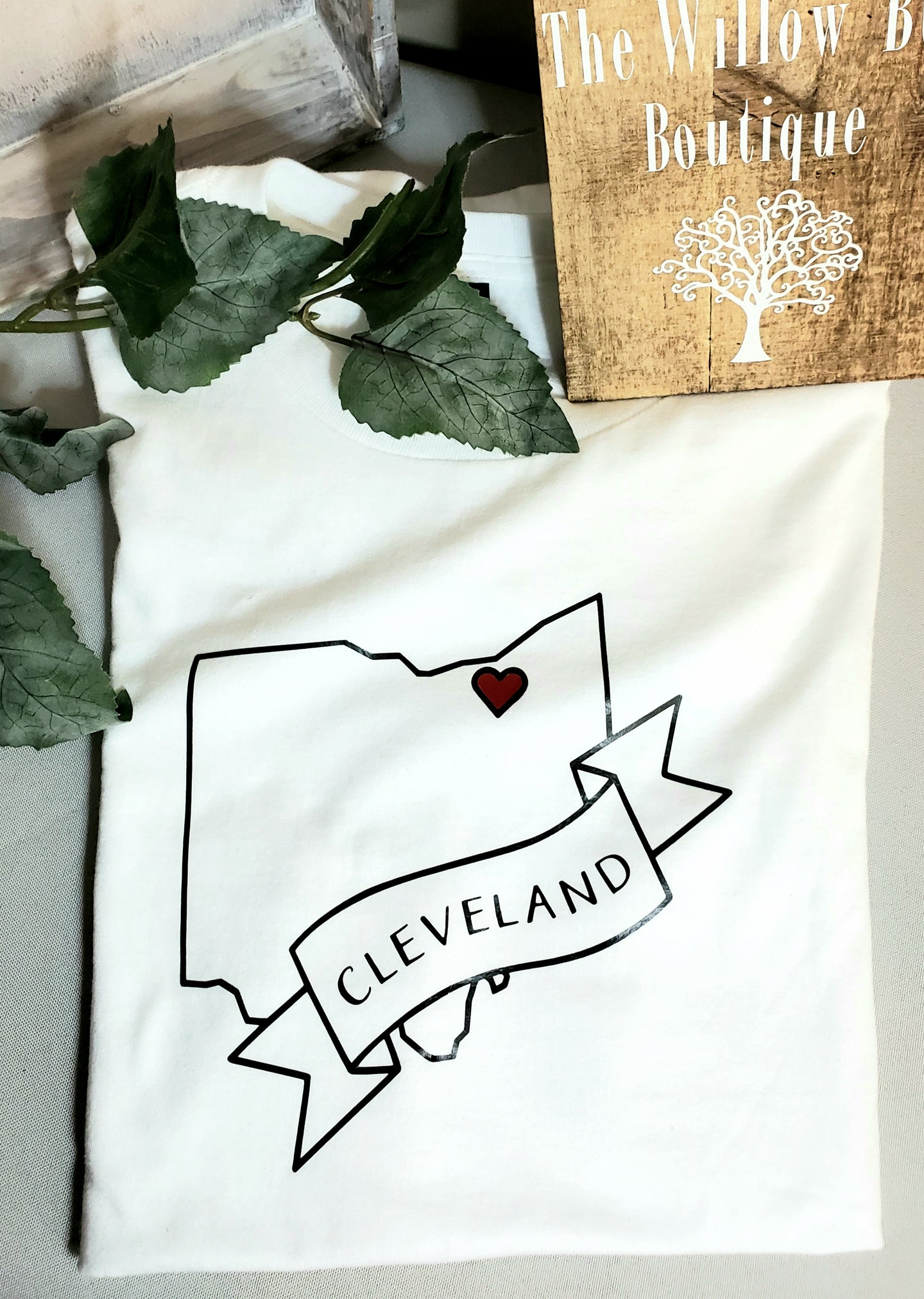 Buy Unisex White Cleveland Ohio T-shirt