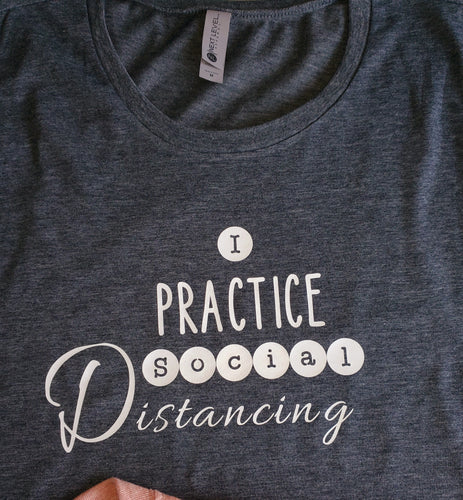 Buy Online Social Distancing Printed quotes Muscle Tees