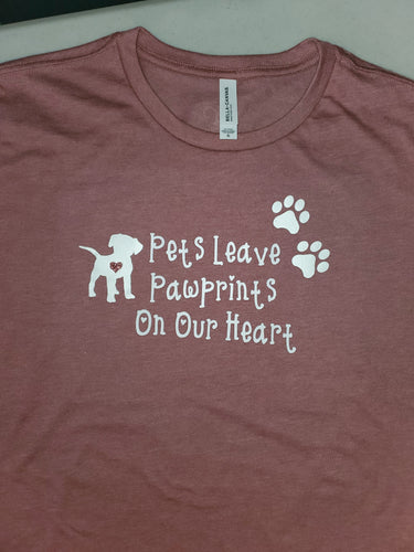 Paw Prints on Our Heart Tshirt Online