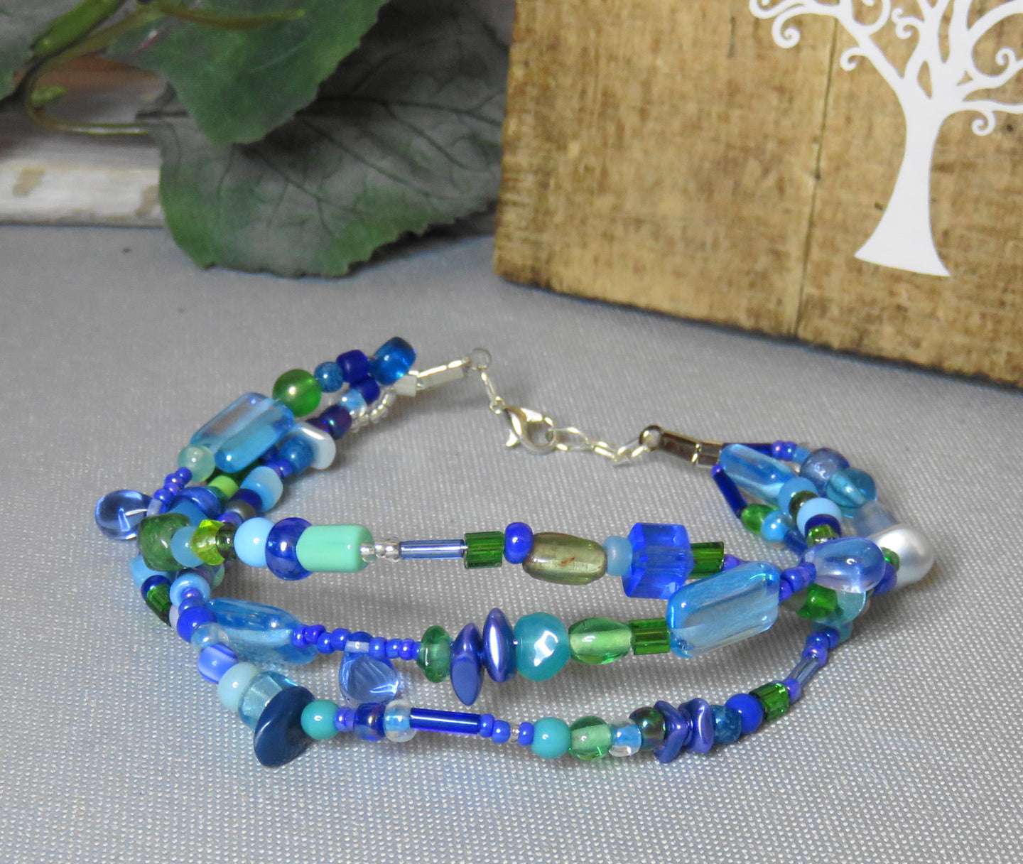 Buy Online Blue Beaded Bracelet