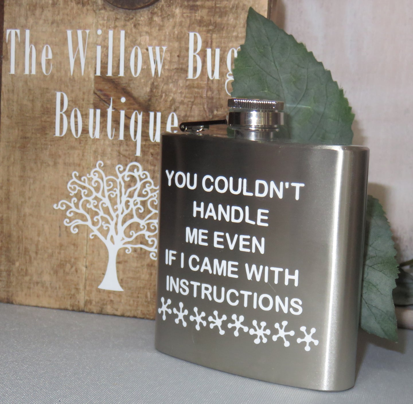 Shop online Quotes Printed Hip Wine Flask