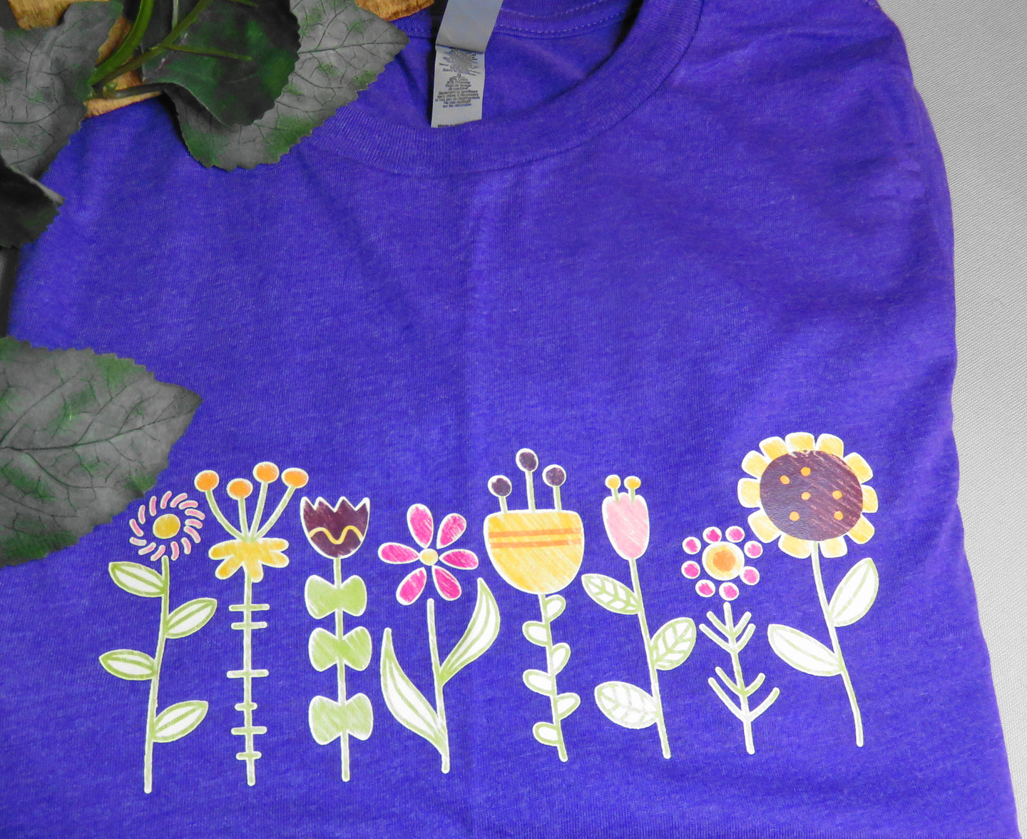Buy Online Round Neck Flower Printed T-shirt
