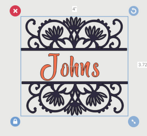 "Buy Customized Floral ""Last Name"" Decal"