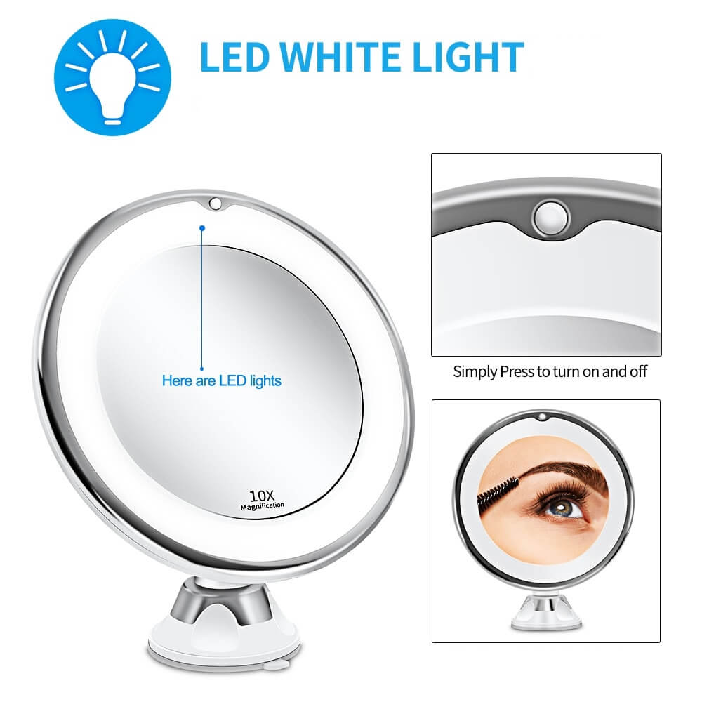Magnifying LED Vanity Mirror