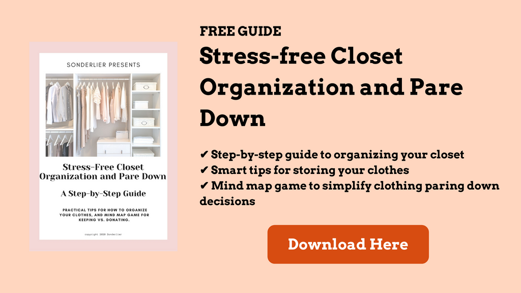 Closet organization and pare down guide