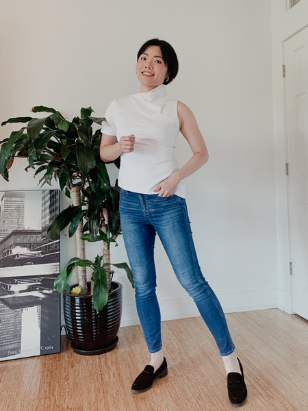 Ava convertible top and jeans