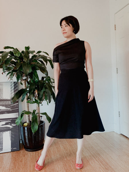 Ava convertible top with midi skirt