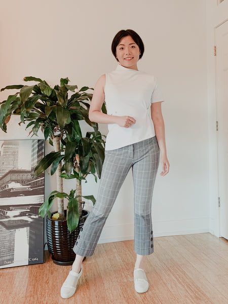 Ava convertible top with checkered pants