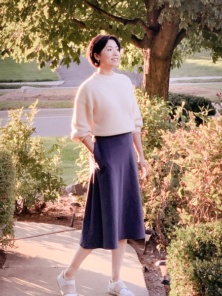 Audrey skirt with sweater