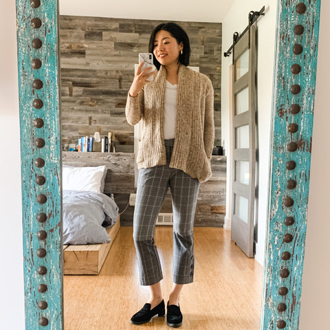 wfh style cardigan outfit