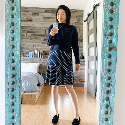 fall outfit idea wfh sweater dress