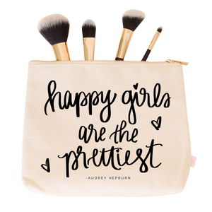 Happy Girls Are the Prettiest Makeup Bag