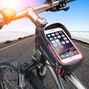 BICYCLE BAG WITH I-POUCH FOR CELL PHONES