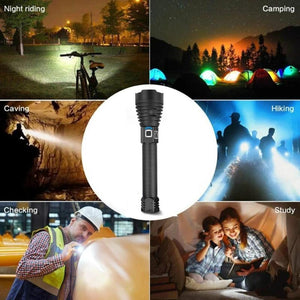 Super Bright Tactical XHP 90.2 Flashlight-30000 Lumens real test data