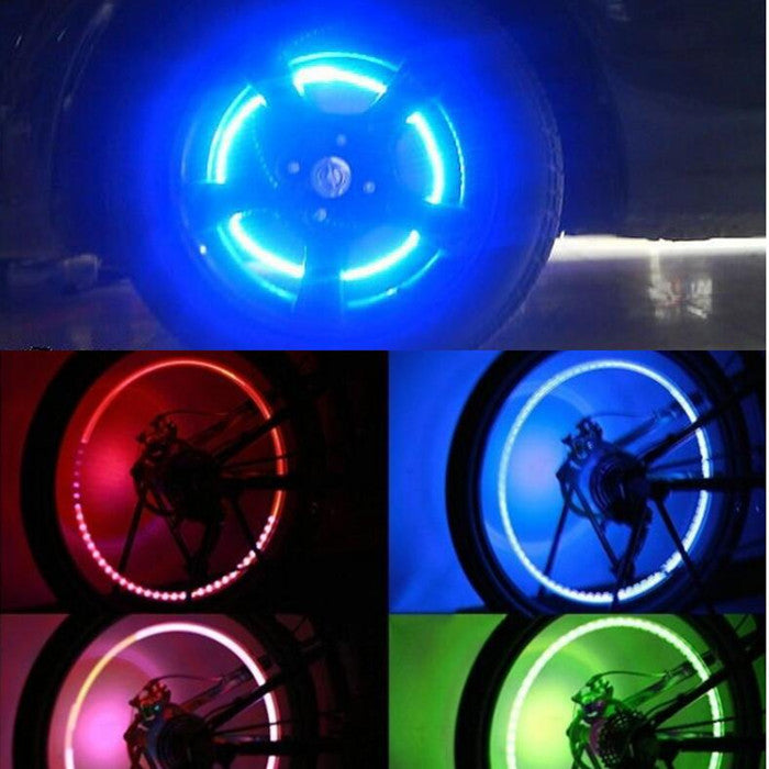 LED tire valve(2pcs)-Can be used on cars and bicycles