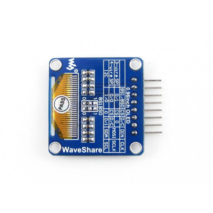 0.96 inch OLED 128x64p SSD1306 Controller SPI and I2C Interfaces Horizontally Bent Pin Header