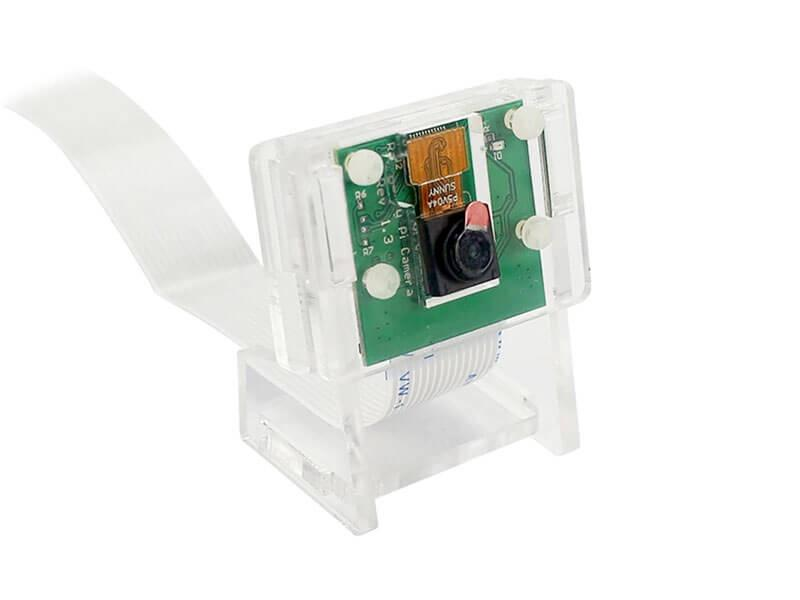 Raspberry Pi 4 5MP Camera Holder (Transparent/Acrylic Support)