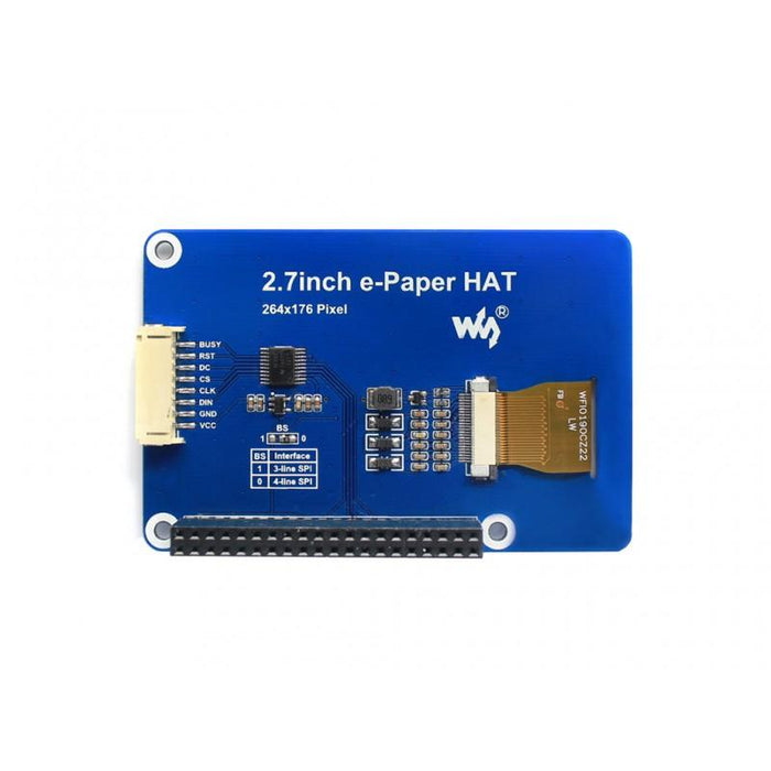 264x176p 2.7-inch 3-Color E-Ink Display HAT for Raspberry Pi and Jetson Nano