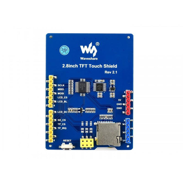 2.8 inch 320x240p TFT LCD Resistive Touch Screen for Arduino SPI Interface Micro SD Card Slot