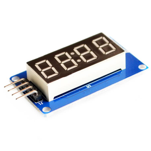 4 Digital Display with adjustable brightness LED module clock