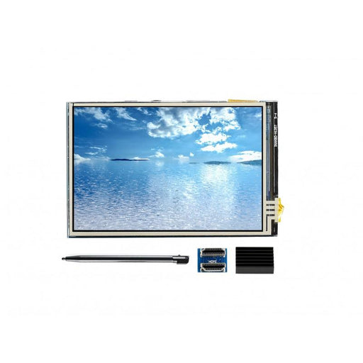 3.5 inch HDMI IPS LCD 480x320p Resistive Touch Screen for Raspberry Pi + Touch Pen + Heatsink