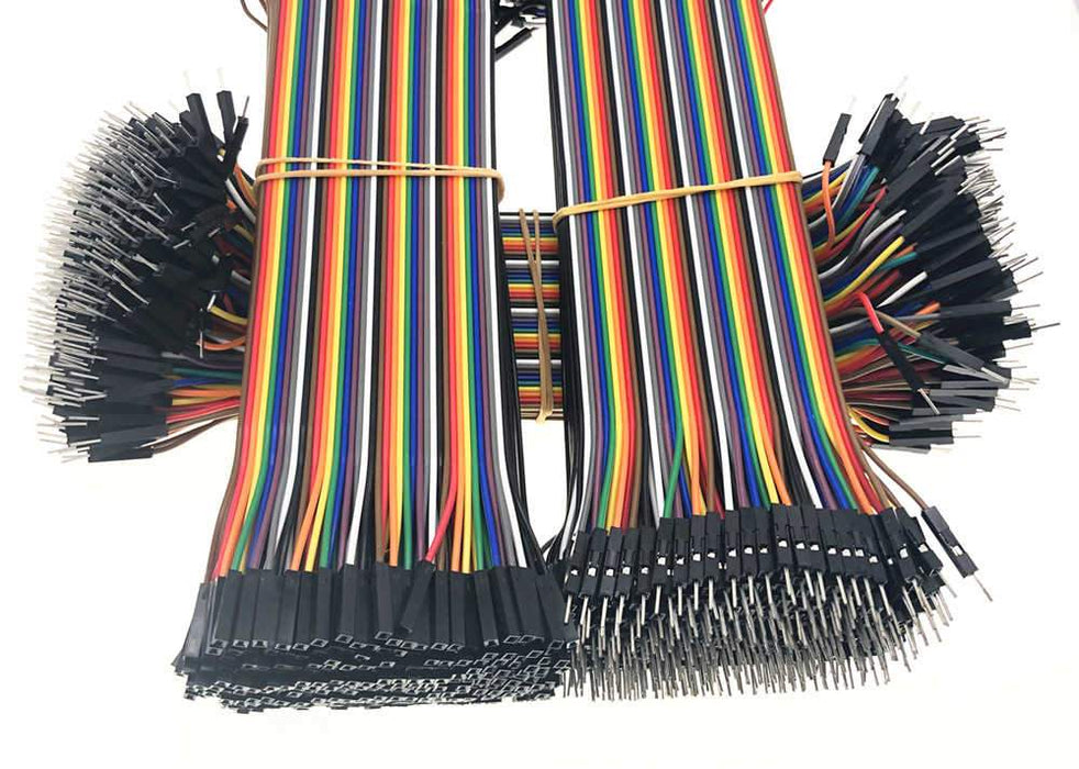 120 Dupont Lines 10cm Jumper Cables Male to Male, Female to Female, Male to Female 40 Each
